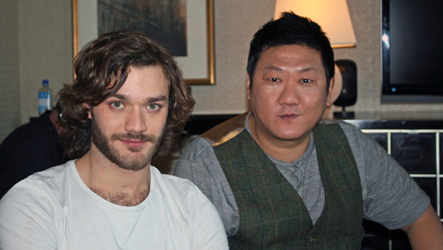 Photo of Benedict Wong & his friend actor  Lorenzo Richelmy - Cast of Marco Polo