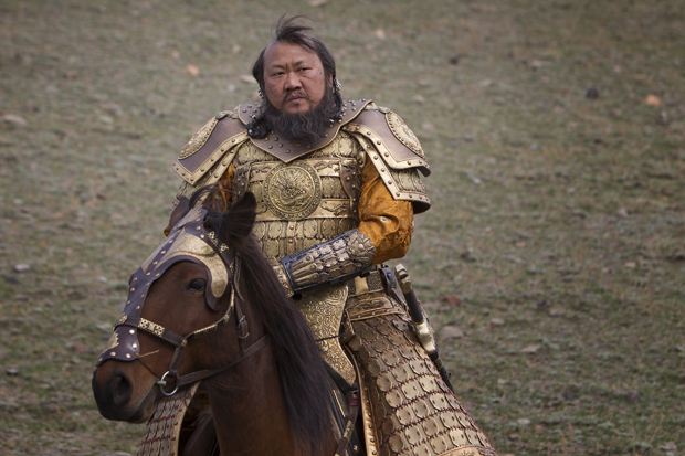 "Benedict Wong as Kublai Khan in ""Marco Polo"" 