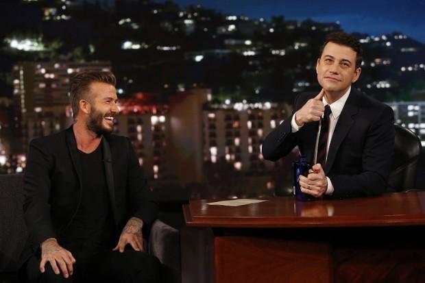 David Beckham and Jimmy Kimmel