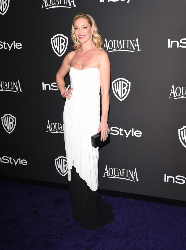 BEVERLY HILLS, CA - JANUARY 11:  Actress Katherine Heigl attends the 2015 InStyle And Warner Bros. 72nd Annual Golden Globe Awards Post-Party at The Beverly Hilton Hotel on January 11, 2015 in Beverly Hills, California.  (Photo by Jason Merritt/Getty Images); sent to Reel Life With Jane by and used with permission of Slate PR