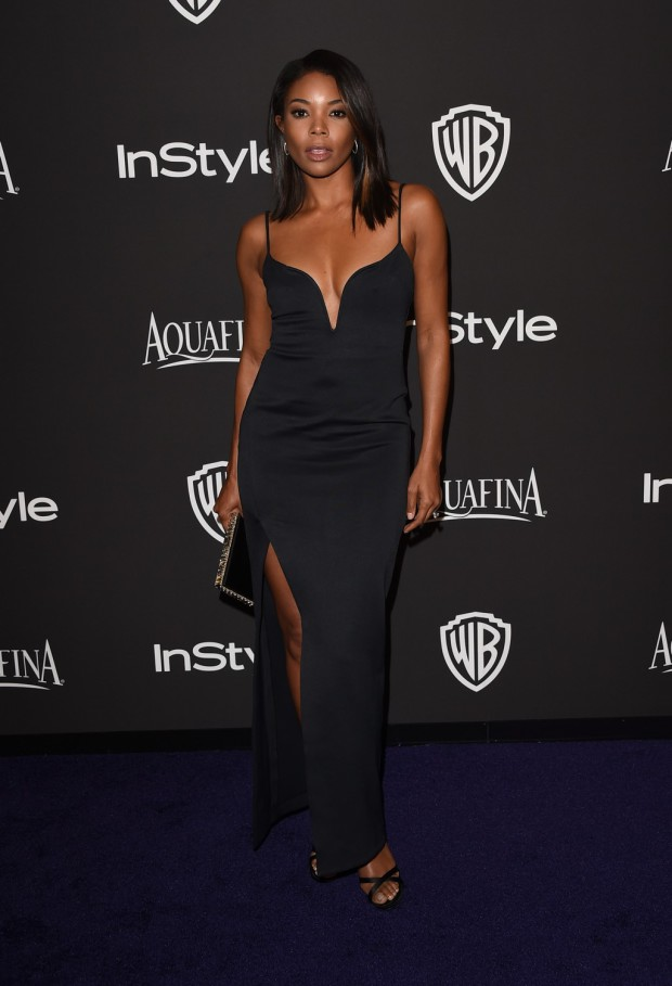 BEVERLY HILLS, CA - JANUARY 11:  Actress Gabrielle Union attends the 2015 InStyle And Warner Bros. 72nd Annual Golden Globe Awards Post-Party at The Beverly Hilton Hotel on January 11, 2015 in Beverly Hills, California.  (Photo by Jason Merritt/Getty Images); Sent to Reel Life With Jane by and used with permission of Slate PR