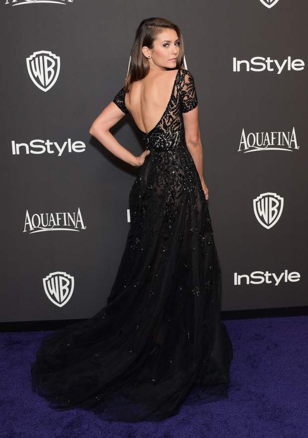BEVERLY HILLS, CA - JANUARY 11:  Actress Nina Dobrev attends the 2015 InStyle And Warner Bros. 72nd Annual Golden Globe Awards Post-Party at The Beverly Hilton Hotel on January 11, 2015 in Beverly Hills, California.  (Photo by Stefanie Keenan/Getty Images for InStyle); Sent to Reel Life With Jane by and used with permission of Slate PR