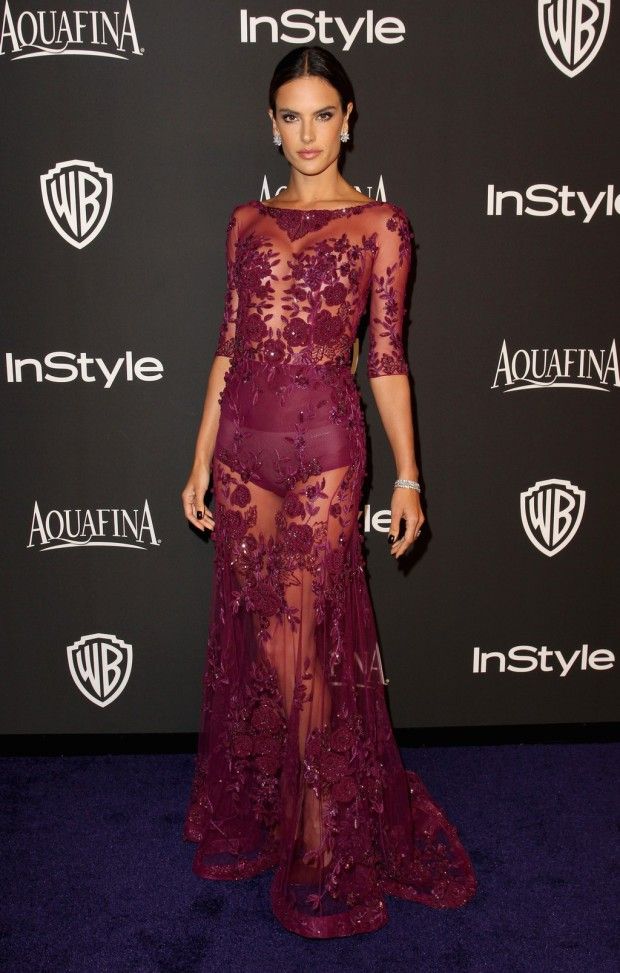 BEVERLY HILLS, CA - JANUARY 11:  Model Alessandra Ambrosio attends the 2015 InStyle And Warner Bros. 72nd Annual Golden Globe Awards Post-Party at The Beverly Hilton Hotel on January 11, 2015 in Beverly Hills, California.  (Photo by Rachel Murray/Getty Images); sent to Reel Life With Jane by and used with permission of Slate PR.