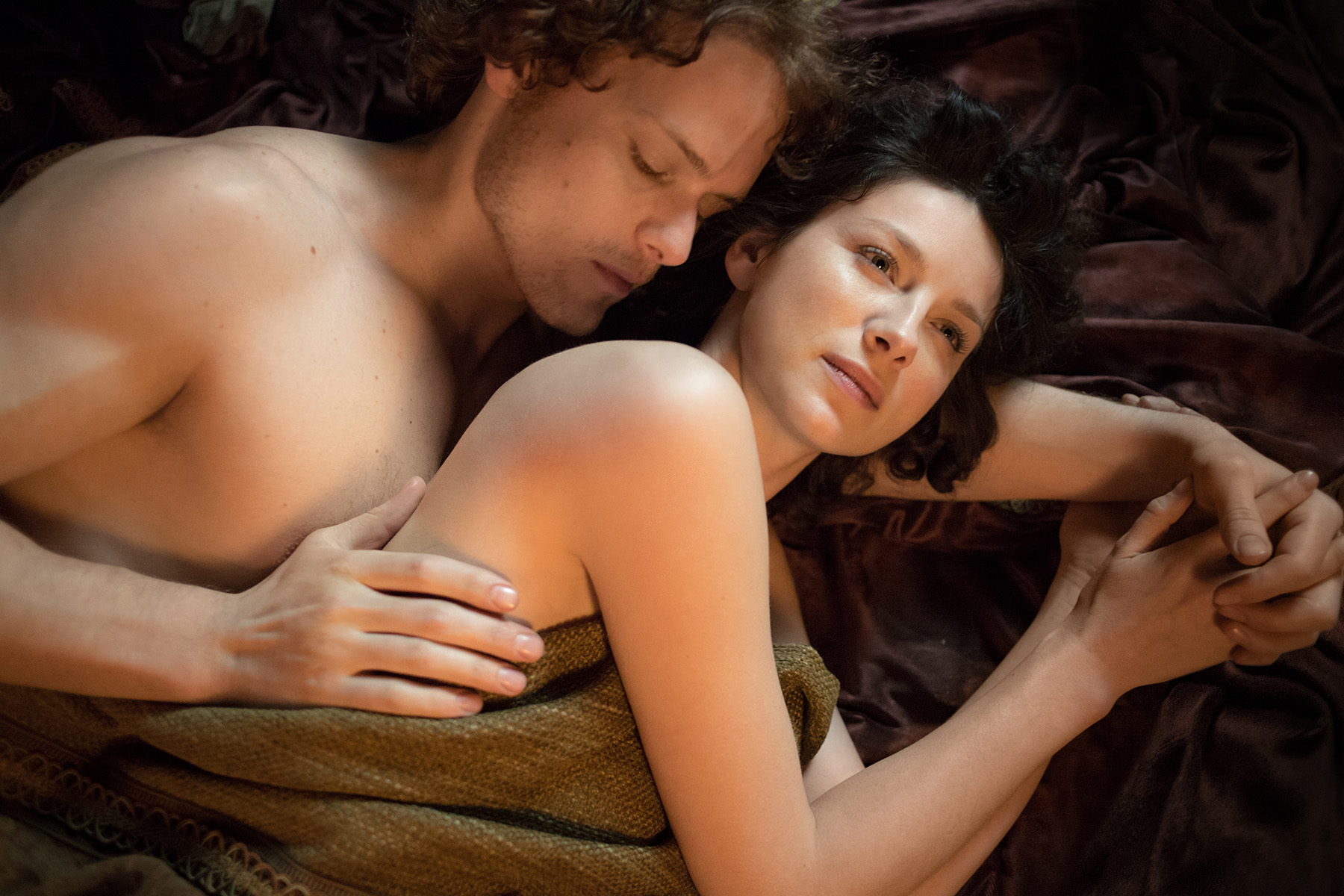 Interview Sam Heughan On Those Steamy Outlander Love Scenes