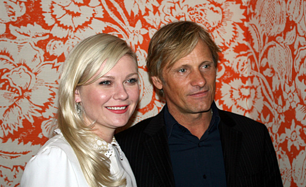 "Kirsten Dunst and Viggo Mortensen at the interview for ""Two Faces of January"" 