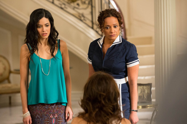 "Edy Ganem and Judy Reyes in ""Devious Maids"" on Lifetime"