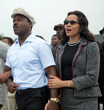 "David Oyelowo as Martin Luther King, Jr. and Carmen Ejogo as Coretta Scott King in ""Selma"" 