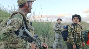 "A still of the Arizona vigilantes in ""Cartel Land"""
