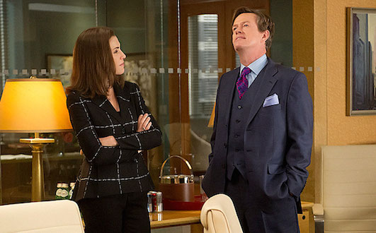 Alicia Florrick helps Colin Sweeney in The Good Wife