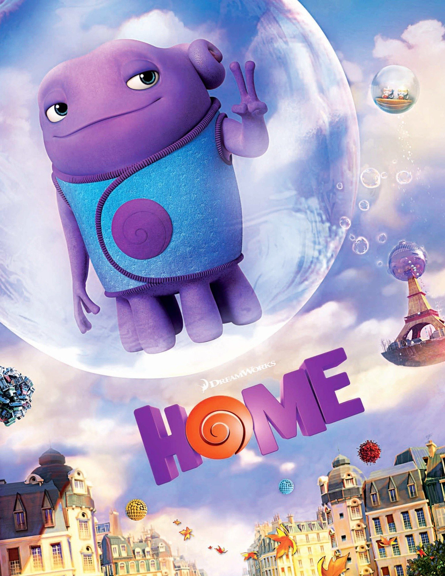 Movie review home a cute colorful children 39 s movie for Wallpaper home film
