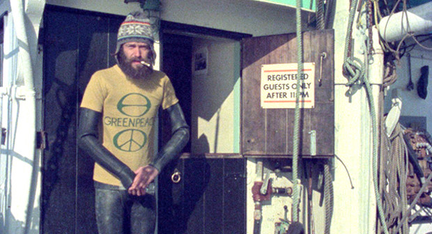 Bob Hunter in the early days of Greenpeace