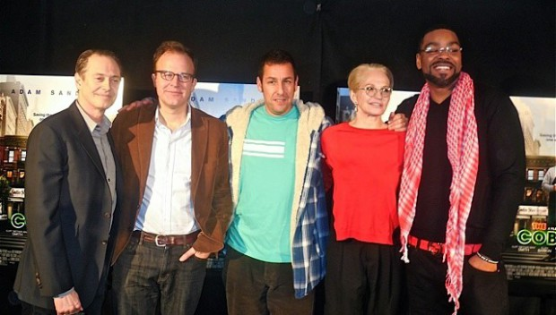 "Steve Buscemi, Tom McCarthy, Adam Sandler, Ellen Barkin and Method Man at a recent press conference for ""The Cobbler"" 