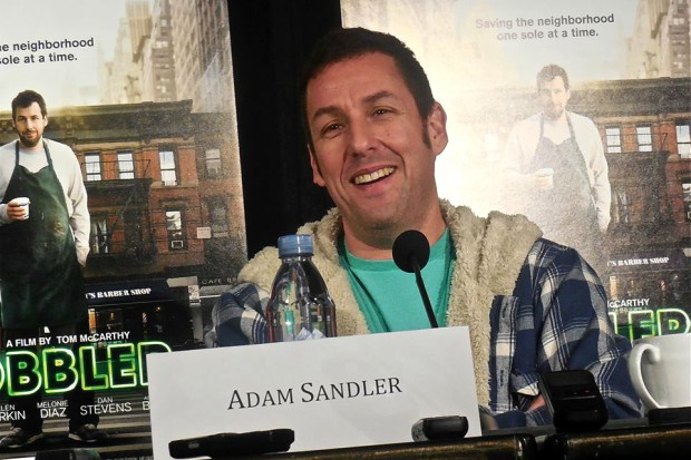 "Adam Sandler at a recent press conference for ""The Cobbler"" 