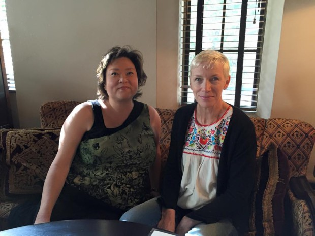 Reel Life With Jane Writer Connie Wang and Annie Lennox | Photo courtesy of Connie Wang