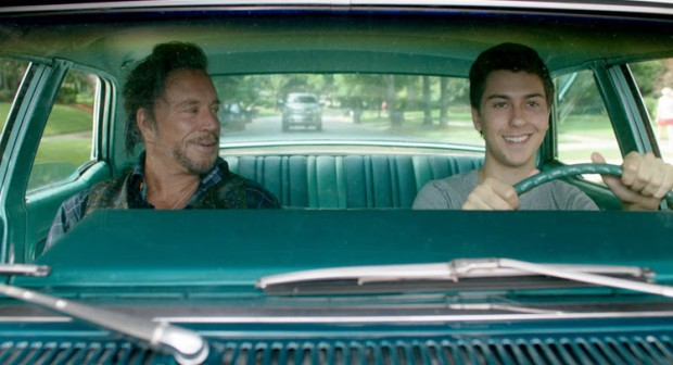 """Mickey Rourke and Nat Wolff in """"Ashby"""""""