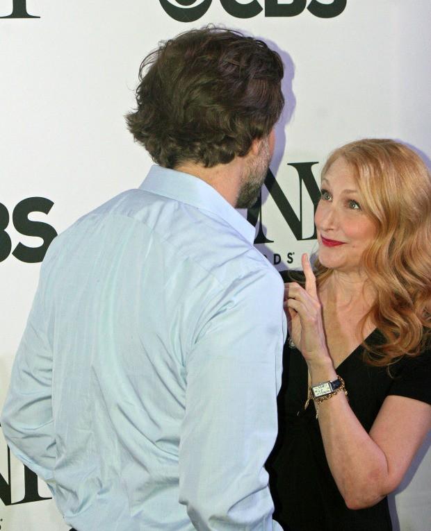 Patricia Clarkson teasingly scolds Bradley Cooper on the red carpet | Melanie Votaw Photo