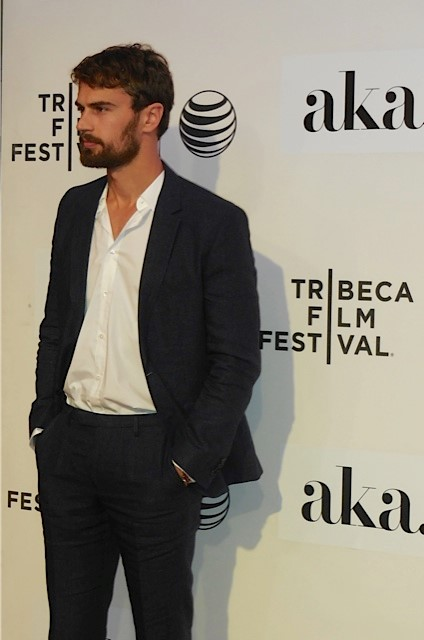 "Theo James on the red carpet at the world premiere of ""Franny"" at the TriBeCa Film Festival 