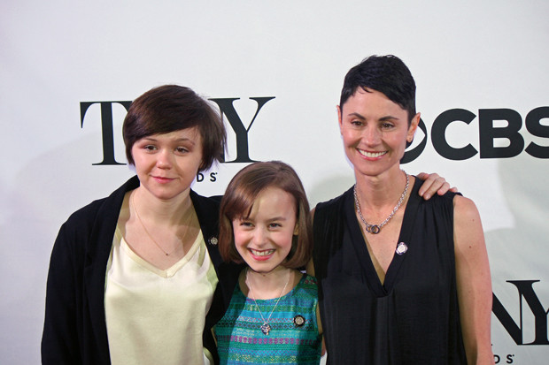 """The lead character in the musical, """"Fun Home"""" is played at three different ages. The actresses are all nominated – Emily Skeggs, Sydney Lucas, and Beth Malone 