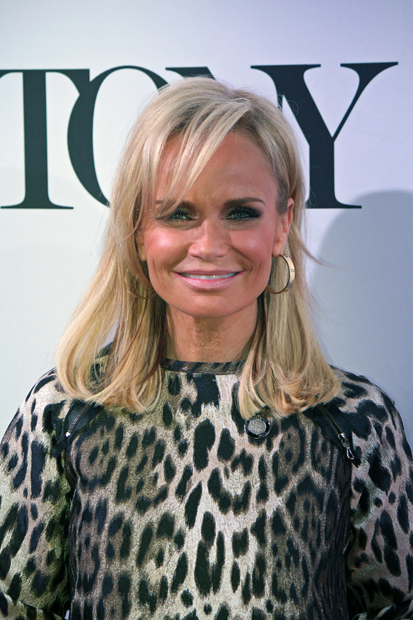 Kristin Chenoweth will also cohost the Tony Awards this year with Alan Cumming. She wasn't speaking while on the red carpet because she has been sick, so she mouthed her words in animated fashion | Melanie Votaw Photo