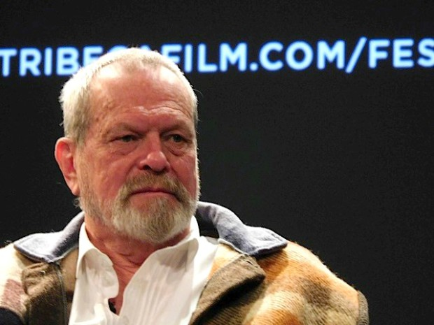 "Terry Gilliam at the Tribeca Film Festival screening of ""Monty Python and the Holy Grail"" 
