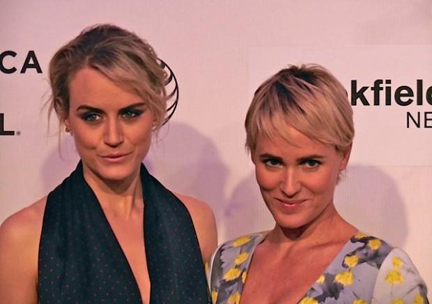 "Taylor Schilling and Judith Godreche at Tribeca Film Festival screening of ""The Overnight"" | Paula Schwartz Photo"