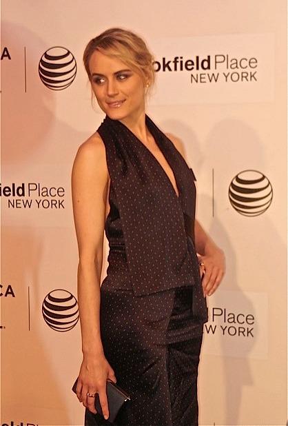 "Taylor Schilling at Tribeca Film Festival screening of ""The Overnight"" | Paula Schwartz Photo"