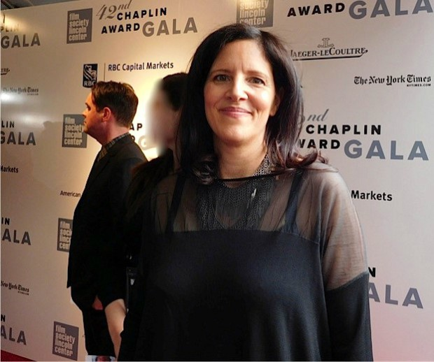 Laura Poitras at the Film Society of Lincoln Center's 42nd Chaplin Award, given to Robert Redford on April 27, 2015 | Paula Schwartz Photo