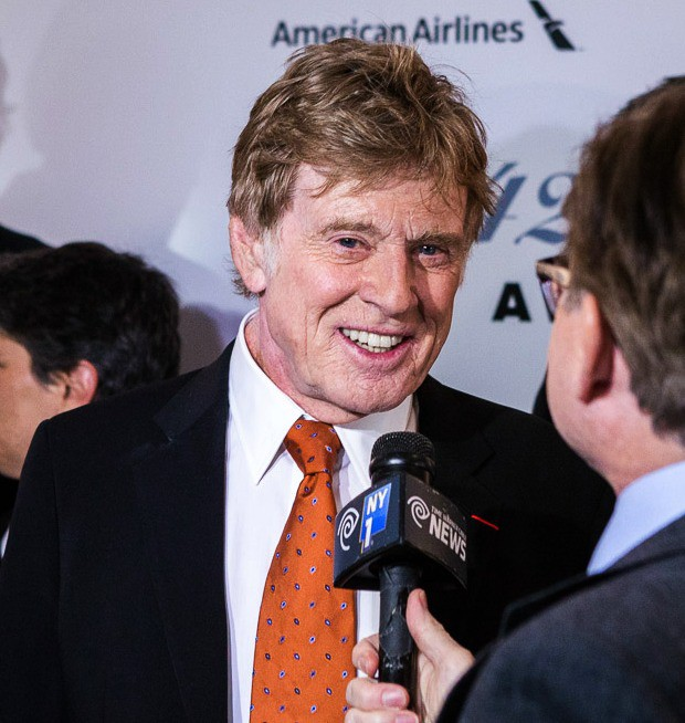 Robert Redford, recipient of the Film Society of Lincoln Center's 42nd Chaplin Award on April 27, 2015 | TK Photo