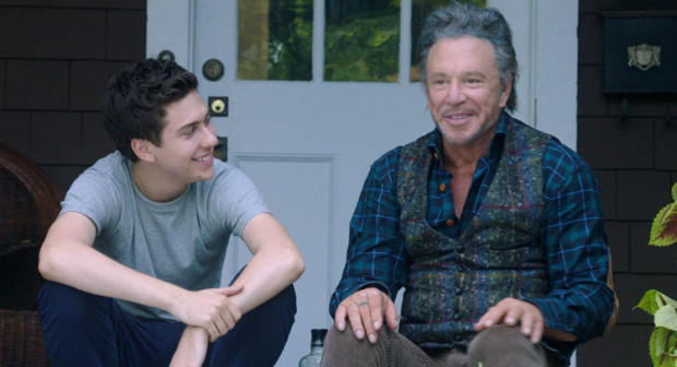 """Nat Wolff and Mickey Rourke in """"Ashby"""""""