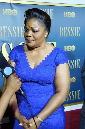 "Mo'Nique at the ""Bessie"" premiere 