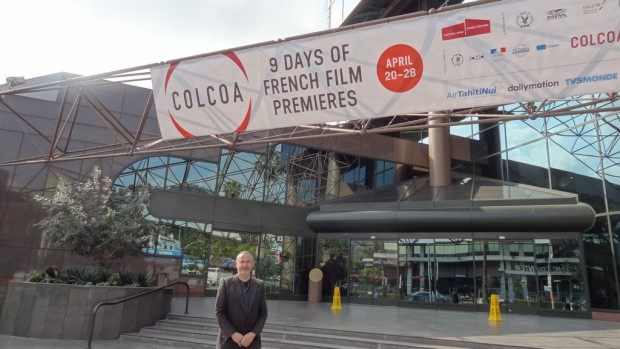 COLCOA Banner with Producer & Artistic Director Francois Truffart | Barbara Singer Photo