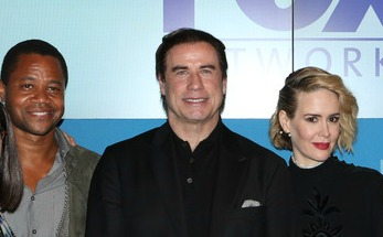Cuba Gooding, Jr., John Travolta and Sarah Paulson at the 2015 Fox Upfront | Paula Schwartz Photo