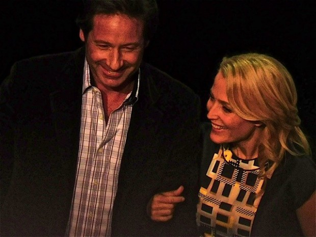"David Duchovny and Gillian Anderson represent ""The X-Files"" at the 2015 Fox Upfront 
