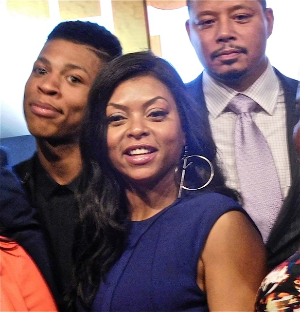 Empire's Bryshere Gray, Taraji Hensen and Terrence Howard at the 2015 Fox Upfront | Paula Schwartz Photo