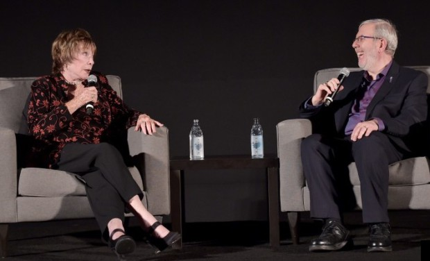 Shirley MacLaine and Leonard Maltin at the 2015 TCM Classic Film Festival | TCM Photo