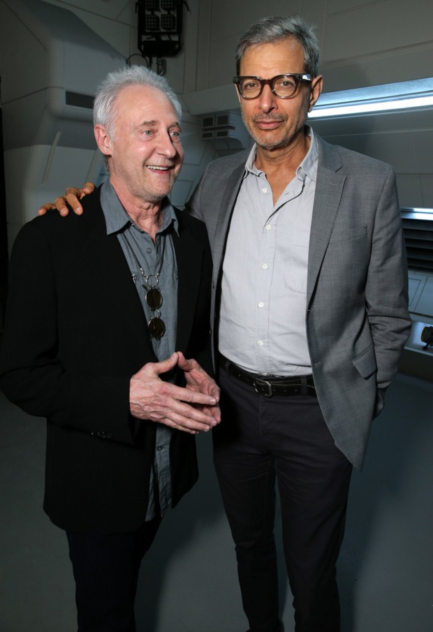 """EXCLUSIVE -  Brent Spiner and Jeff Goldblum seen at the """"Independence Day Resurgence"""" Global Production Event on Monday, June 22, 2015, in Albuquerque, New Mexico. (Photo by Eric Charbonneau/Invision for Twentieth Century Fox/AP Images)"""