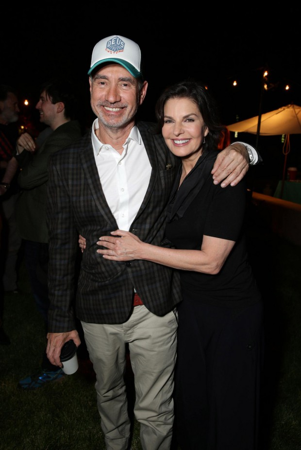 """EXCLUSIVE - Director/Writer Roland Emmerich and Sela Ward seen at the """"Independence Day Resurgence"""" Global Production Event on Monday, June 22, 2015, in Albuquerque, New Mexico. (Photo by Eric Charbonneau/Invision for Twentieth Century Fox/AP Images)"""