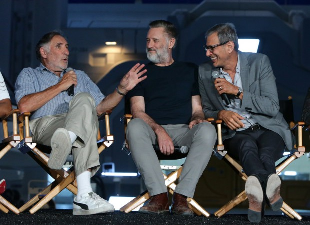 """EXCLUSIVE - Judd Hirsch, Bill Pullman and Jeff Goldblum seen at the """"Independence Day Resurgence"""" Global Production Event on Monday, June 22, 2015, in Albuquerque, New Mexico. (Photo by Eric Charbonneau/Invision for Twentieth Century Fox/AP Images)"""