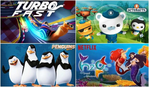 Netflix July 2015 KIDS TEENS Collage