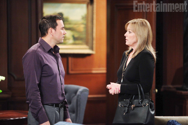 "Tyler Christopher (Nikolas Cassadine) and Genie Francis (Laura Spencer) on ""General Hospital"" 