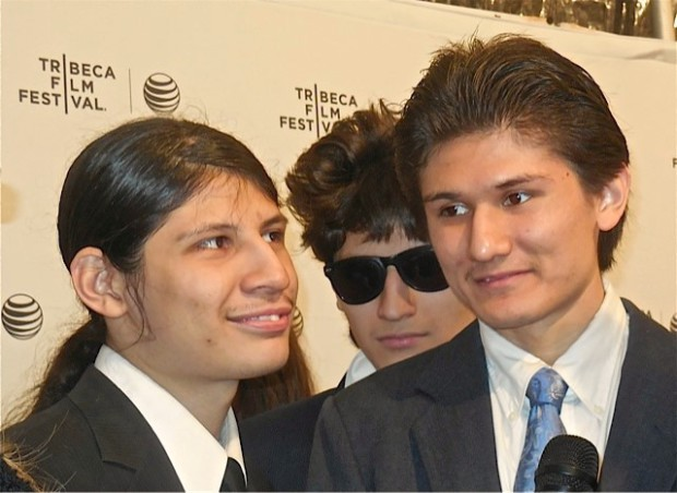"The Brothers Angulo at the NY premiere of ""The Wolfpack"" 