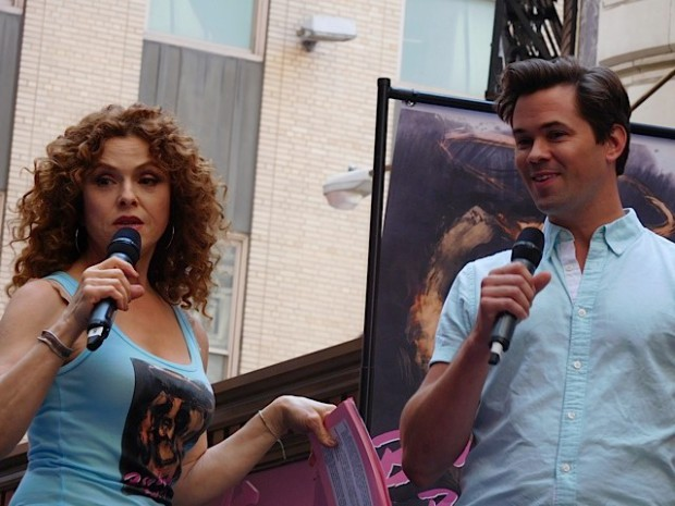 Broadway Barks 2015: Co-hosts Bernadette Peters and Andrew Rannells | Paula Schwartz Photo