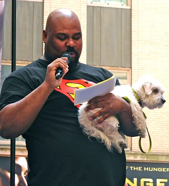 "Broadway Barks 2015: James Monroe Iglehart of ""Aladdin"" 