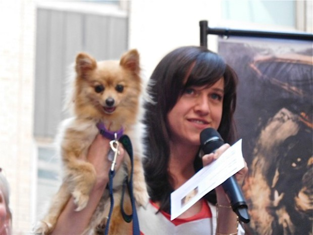 "Broadway Barks 2015: Lena Hall from ""Hedwig"" and her new pup, Ziggy Starfox 