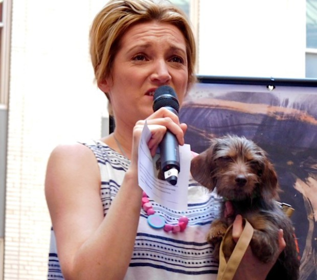 "Broadway Barks 2015: Francesca Faridany of ""Curious Incident of the Dog"" 