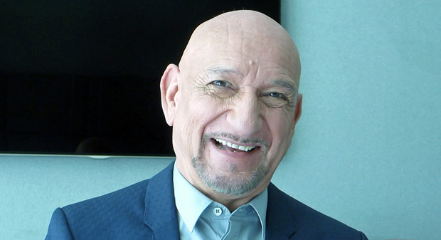 "Sir Ben Kingsley in New York for interviews about ""Learning to Drive"" 