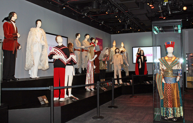 A gallery of costumes from various seasons at Saturday Night Live: The Exhibition | Melanie Votaw Photo