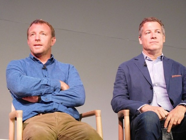 """Guy Ritchie and Lionel Wigram at a Q&A for """"The Man from UNCLE"""" 