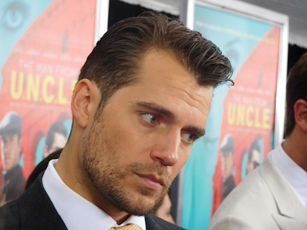 """Henry Cavill at the NY premiere of """"The Man from UNCLE"""" 