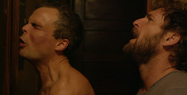 """Stephen Plunkett and Josh Lucas in """"The Mend"""""""